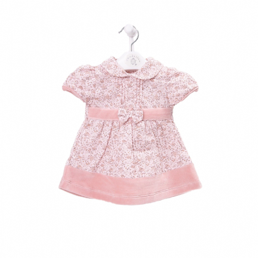 AV2403 Girls  Floral Dress with Peter Pan Collar